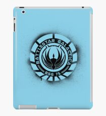 Battlestar Galactica Grunge - Blue line iPad Case/Skin