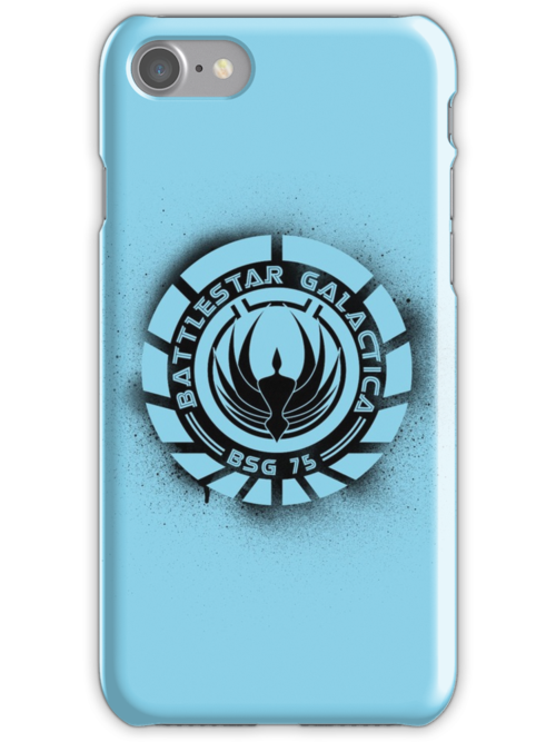 Battlestar Galactica Grunge - Blue line by lovecrafted