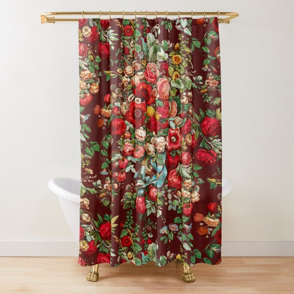 Chintz pattern from the Industrial arts of the Nineteenth Century by Sir Matthew Digby Wyatt Shower Curtain