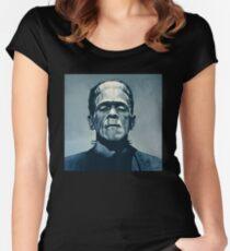 Boris Karloff as Frankenstein  Women's Fitted Scoop T-Shirt