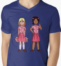 "Ymir and Historia ""But I'm a Cheerleader"" Men's V-Neck T-Shirt"