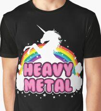 heavy metal parody funny unicorn rainbow Graphic T-Shirt