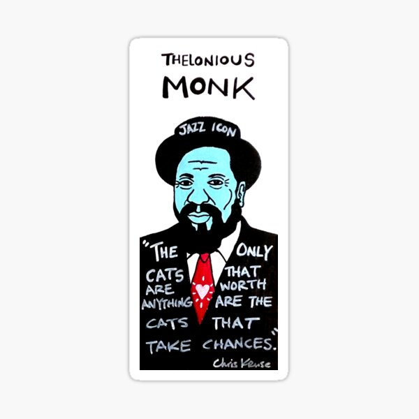 Thelonious Monk Jazz Folk Art Sticker