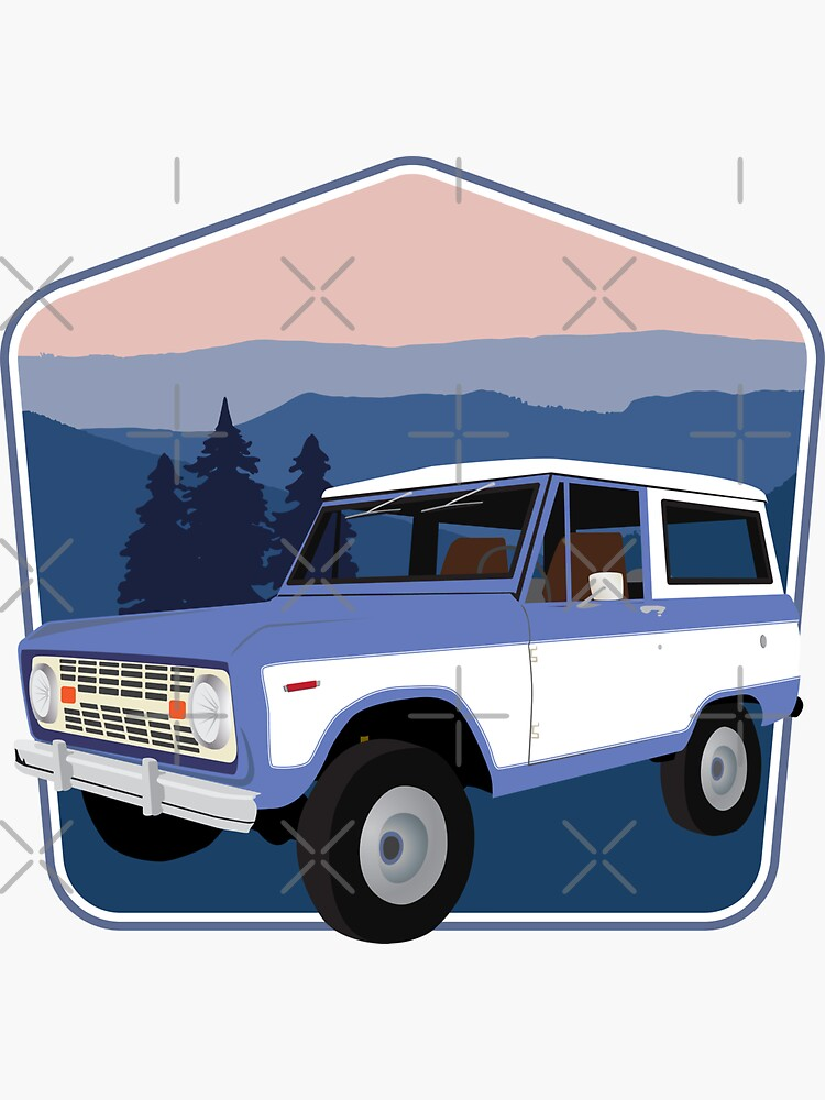 Vintage Blue Bronco in the Smoky Mountains by brainthought