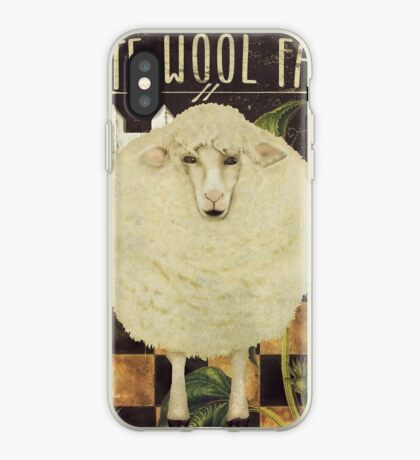 White Wool Vermont Farms iPhone Case