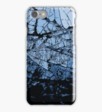 Ice Cracks, blue and black abstraction iPhone Case/Skin