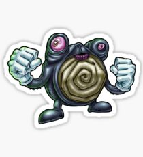 Punch-Drunk Poliwhirl Sticker