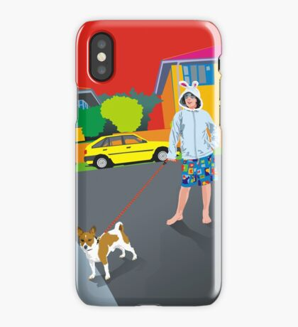 Bob and the Mystery Rabbit Girl iPhone Case