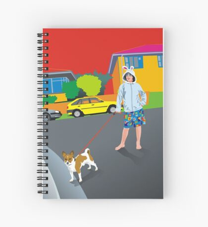 Bob and the Mystery Rabbit Girl Spiral Notebook