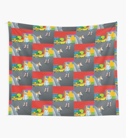 Bob and the Mystery Rabbit Girl Wall Tapestry