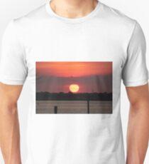 Island Park Big Sun Ball Sunset T-Shirt