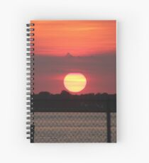 Island Park Big Sun Ball Sunset Spiral Notebook
