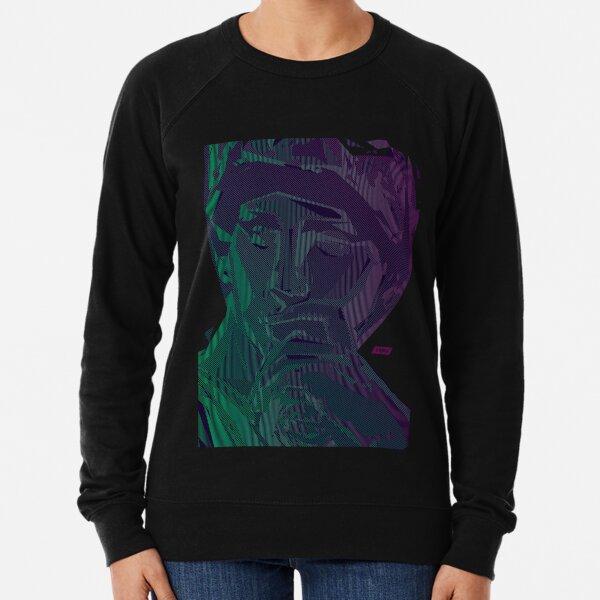 Lorenzo Scanline Portrait | Night Time Lightweight Sweatshirt