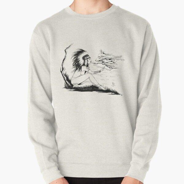Native American Girl ink Pullover Sweatshirt