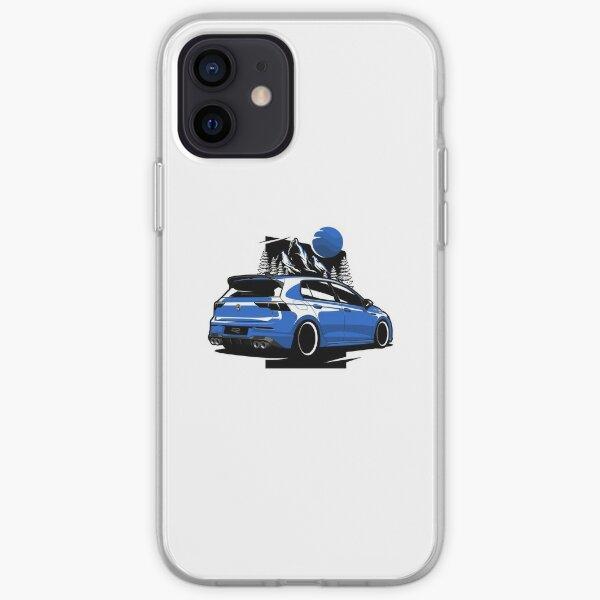 Golf azul R Funda blanda para iPhone