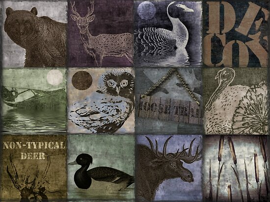 Great Outdoors Wildlife Patchwork by mindydidit