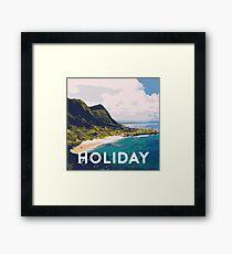 Beach holiday landscape Framed Print
