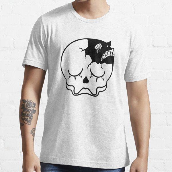 Transparent Peaceful Skull (black) Essential T-Shirt