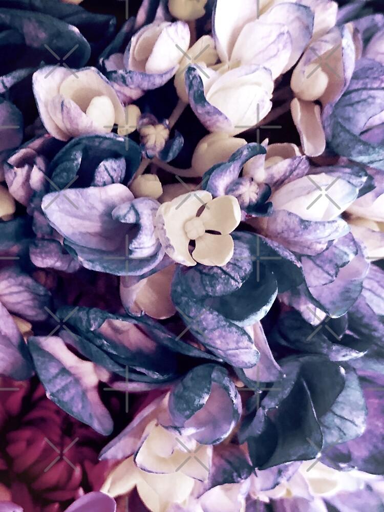 Purple Hydrangea Fields - Floral Bouquet by OneDayArt