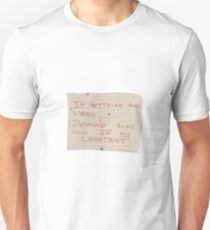 Desmond Hume is my constant -Lost Unisex T-Shirt