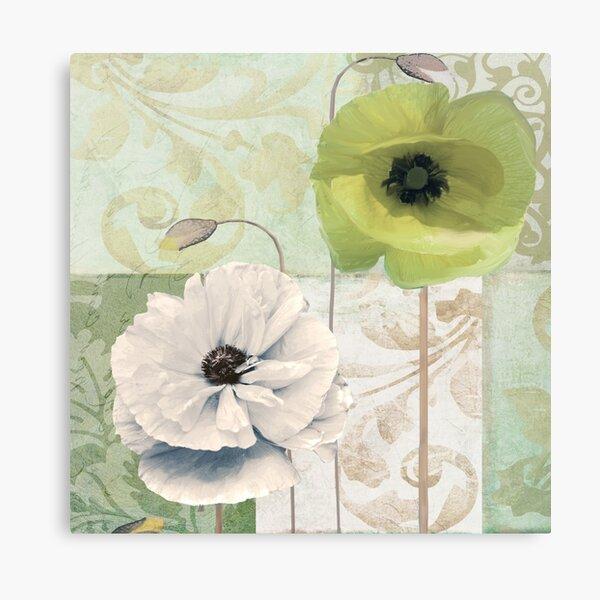 Calyx and Cream Poppies Canvas Print