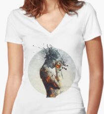 Deliberation Women's Fitted V-Neck T-Shirt