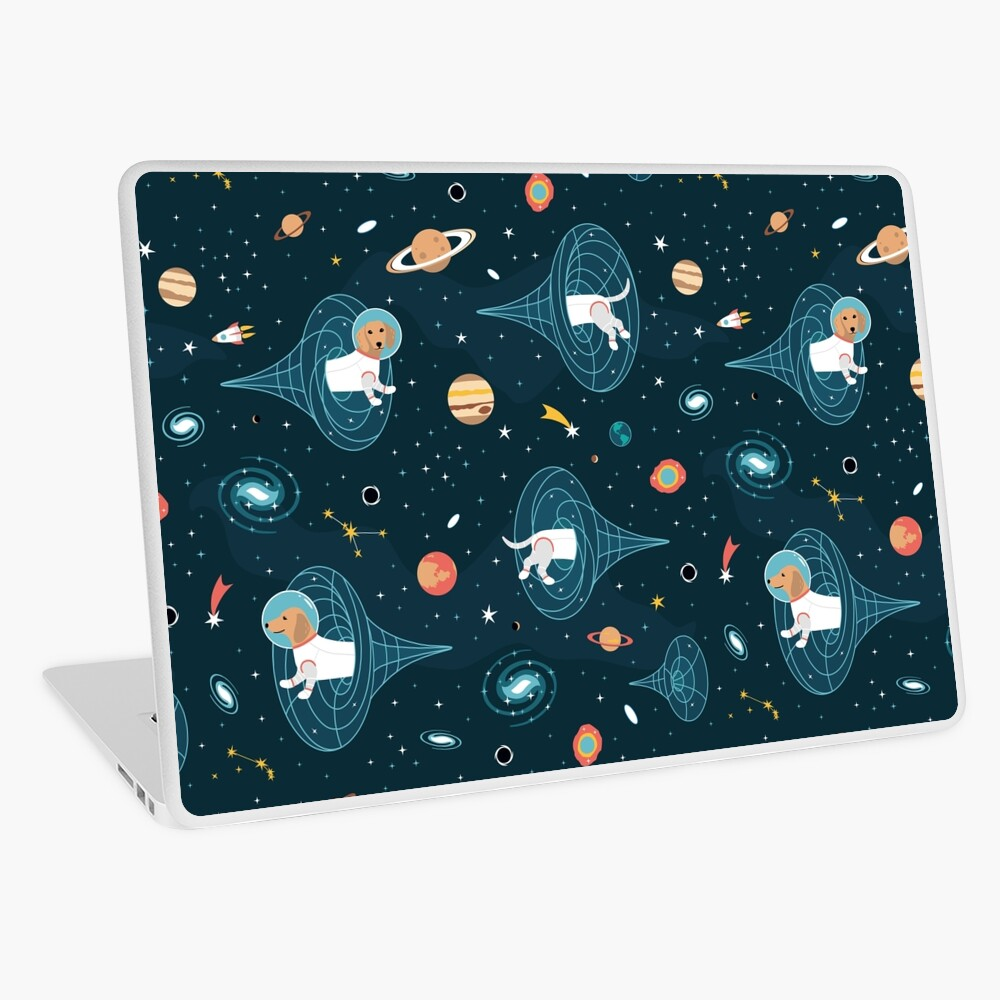 Dachshunds Space Travellers Laptop Skin