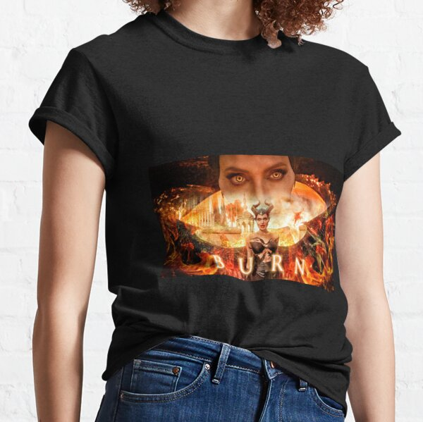 Maleficent Burn Fire Art Classic T-Shirt