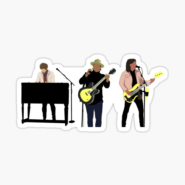 Rock Band Illustration Needtobreathe Musical Artists Performing Sticker