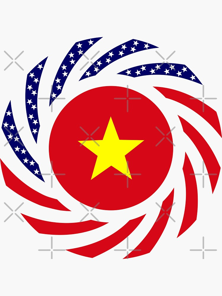 Vietnamese American Multinational Patriot Flag Series by carbonfibreme