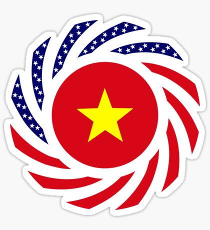 Vietnamese American Multinational Patriot Flag Series Glossy Sticker