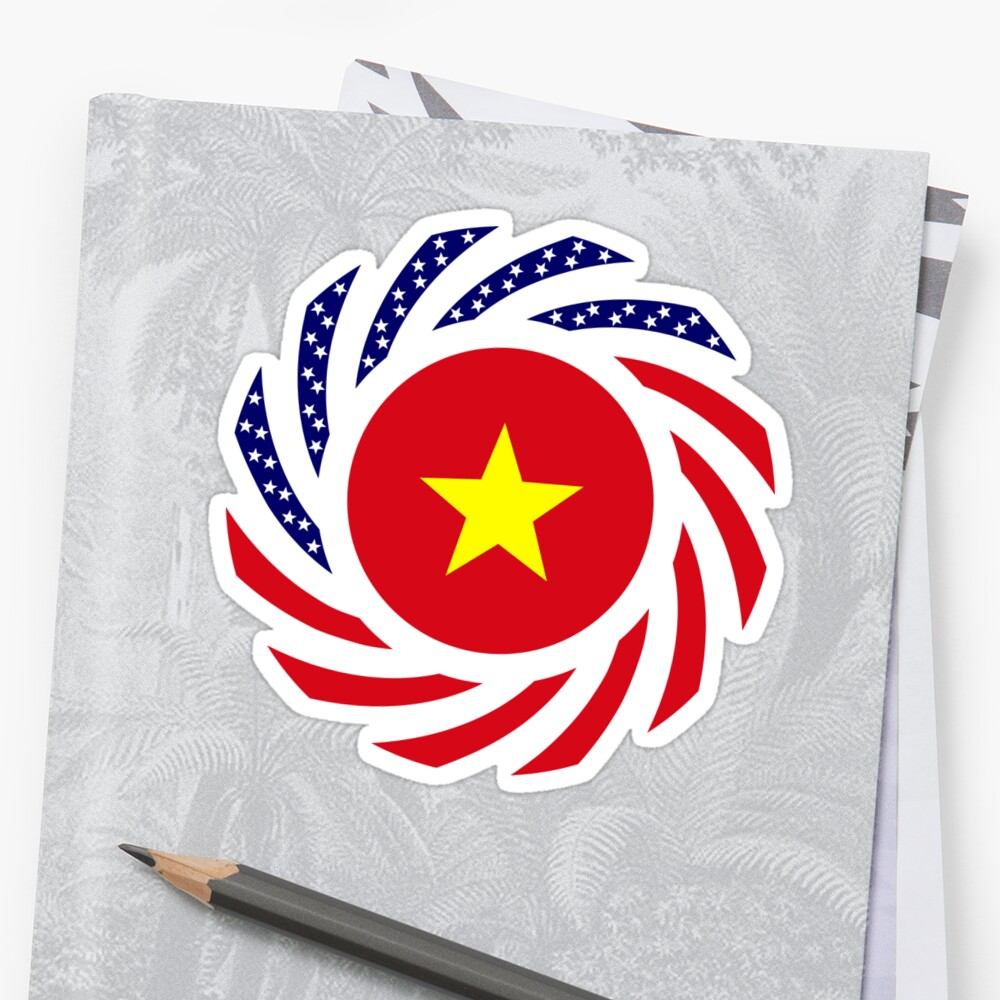 Vietnamese American Multinational Patriot Flag Series Sticker