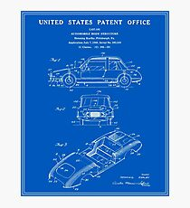 Automobile Body Patent - Blueprint Photographic Print