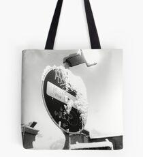 Snow Post Tote Bag