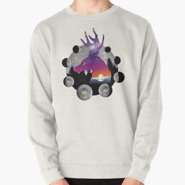 cosmic deer Pullover Sweatshirt