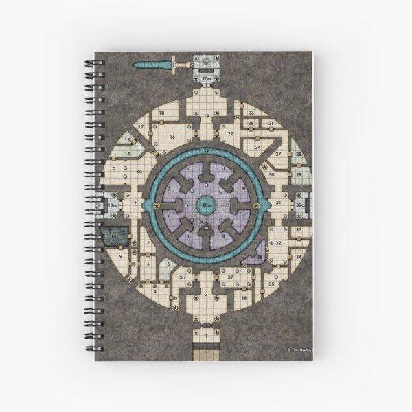 Orb Dungeon Map Spiral Notebook