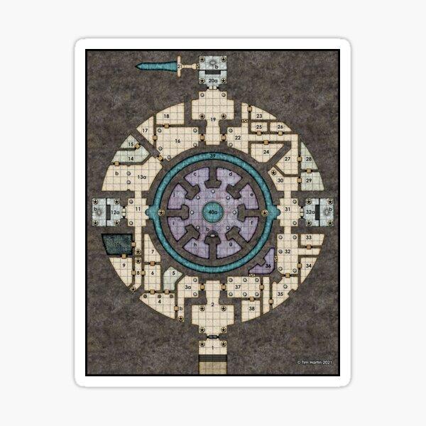 Orb Dungeon Map Sticker