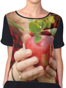 Red, Red Apple Women's Chiffon Top