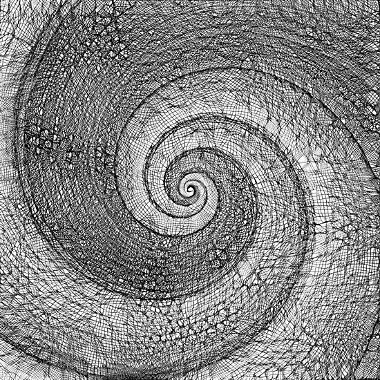 Fibonacci spiral DeepStyle abstraction