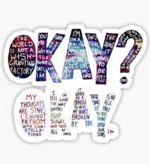 Okay Okay Nebula  Sticker