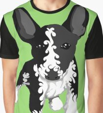 Spiral English Bull Terrier Puppy Graphic T-Shirt