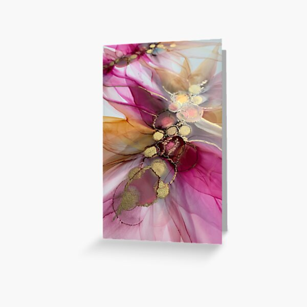 'Intertwined' abstract artwork Greeting Card