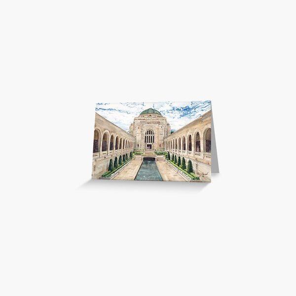 Australian War Memorial watercolour painting by Paris Lomé Greeting Card
