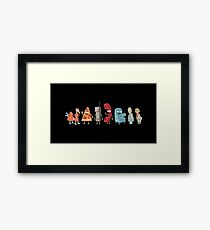 Rick and Morty mini-characters Framed Print