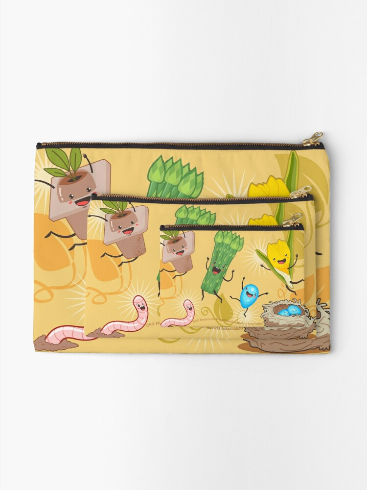 Alternate view of Wisconsin + Spring = Happiness Zipper Pouch