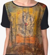 The Mad Hatter and the Cheshire Cat Chiffon Top