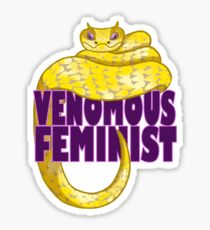 Venomous Feminist Sticker