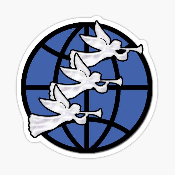 Mensaje de los tres ángeles de la Iglesia Adventista del Séptimo Día [Cuéntale al mundo] Pegatina