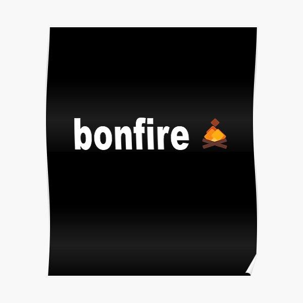 Bonfire Coin Bonfire Crypto Poster