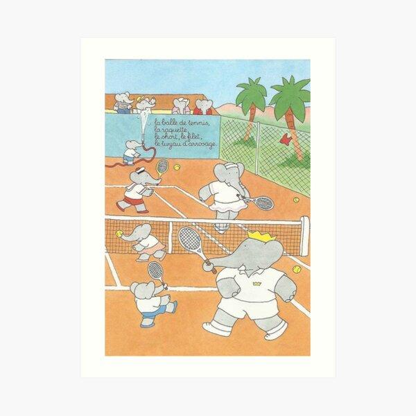 Babar au tennis Art Print